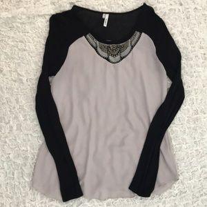 Dressy long sleeve top